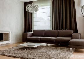 100平米 咖啡色窗簾