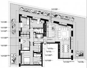 85平米 三室一廳 戶型圖