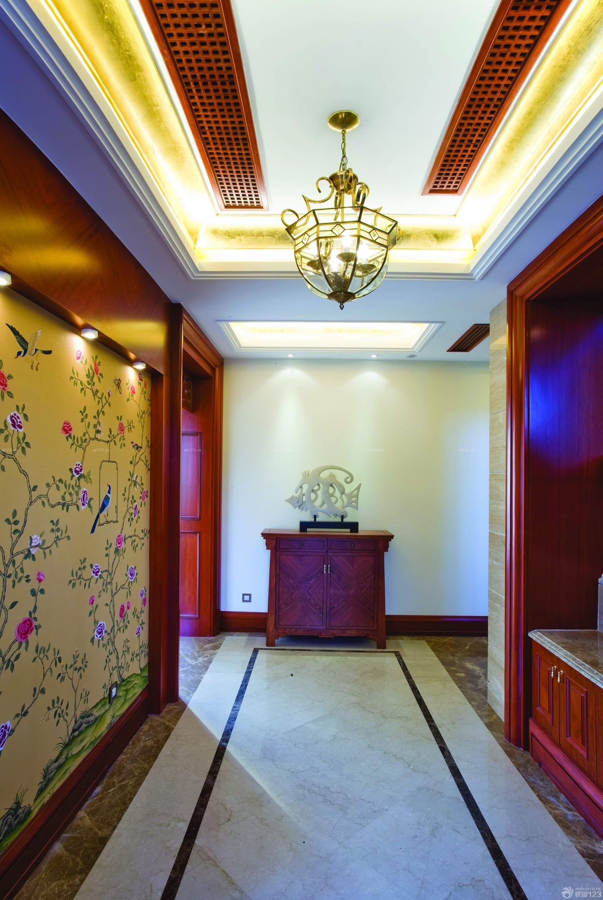 走廊玄关石膏天花板吊顶效果图