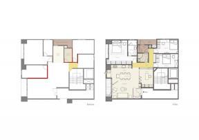 100平米 三室一廳 戶型圖