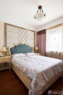 歐式風格臥室布藝軟包設計圖