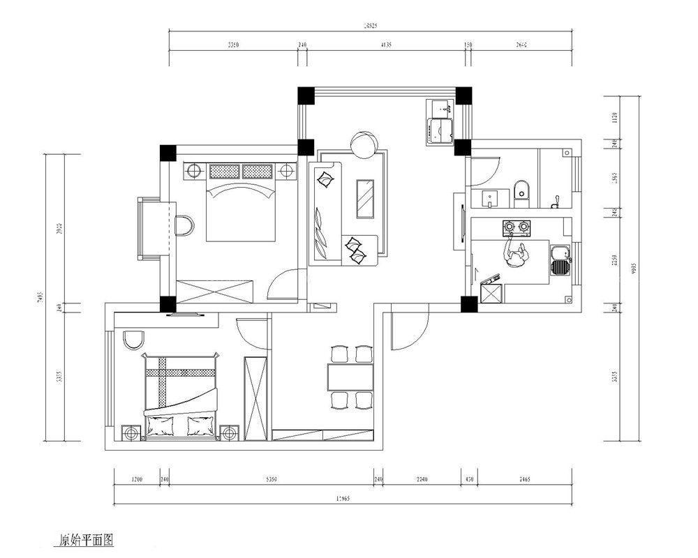 70平米房屋平面图