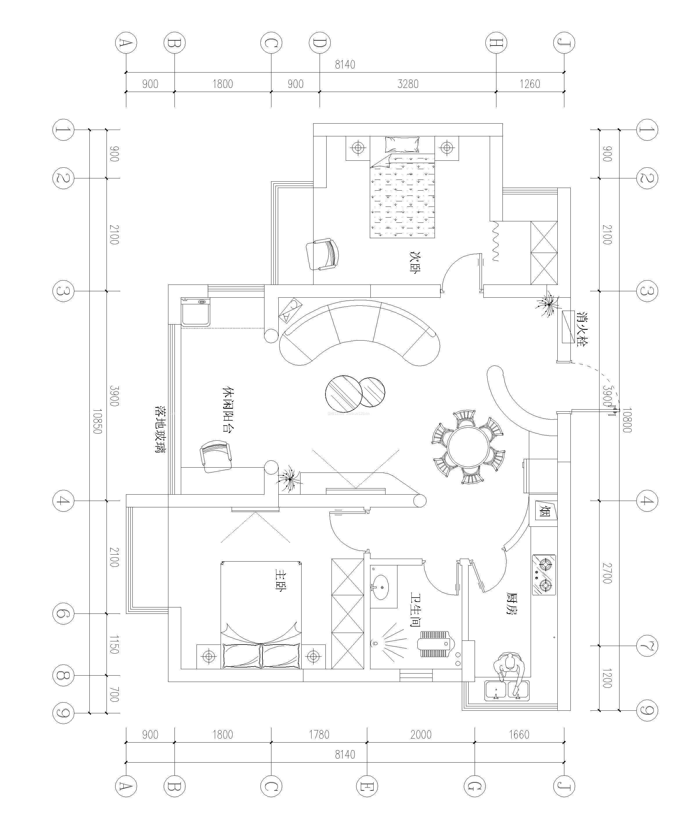 70平米小户型平面设计图