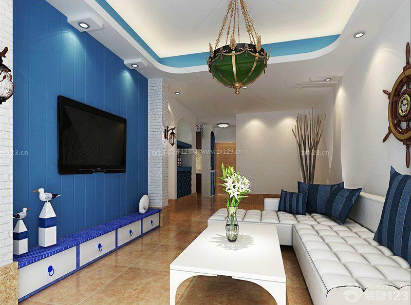 地中海风格小户型电视柜效果图片_装修123效果图