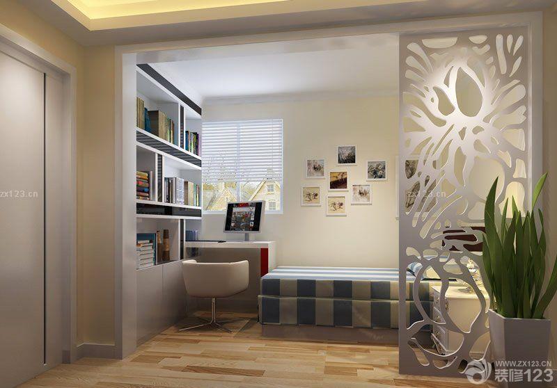 现代中式风格小户型阳台改卧室装修图片