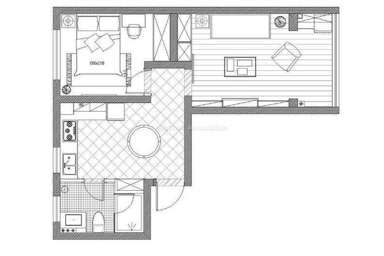 70平米小户型平面设计图2014