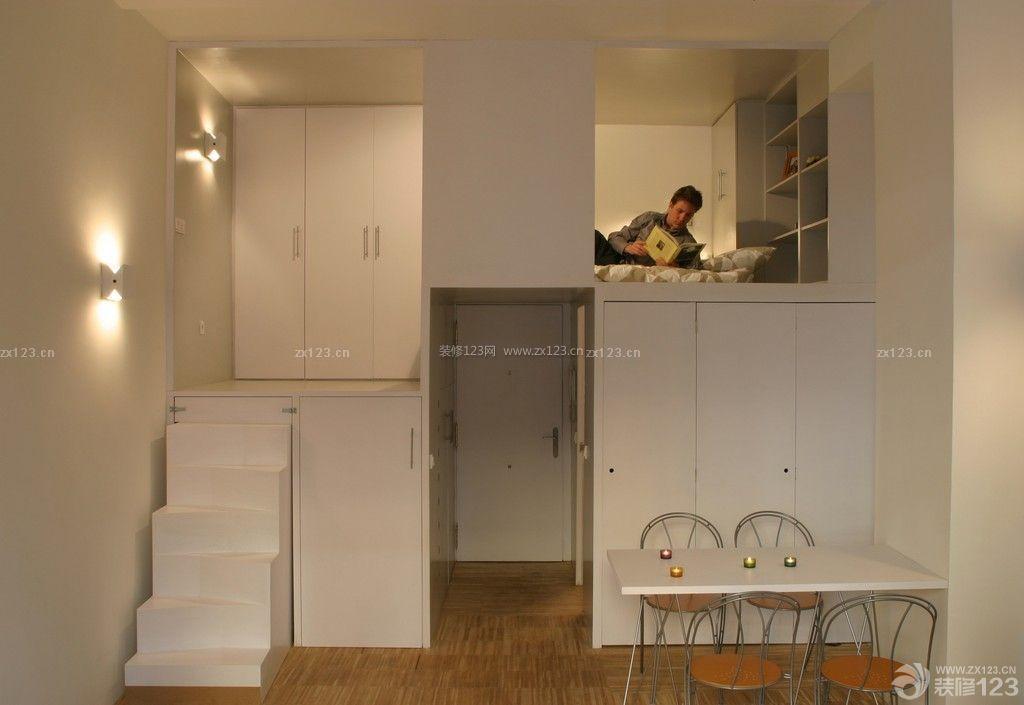 复式小户型装修床设计实例_装修123效果图图片