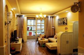 小户型客厅沙发摆放 家装风格效果图 复古风格图片