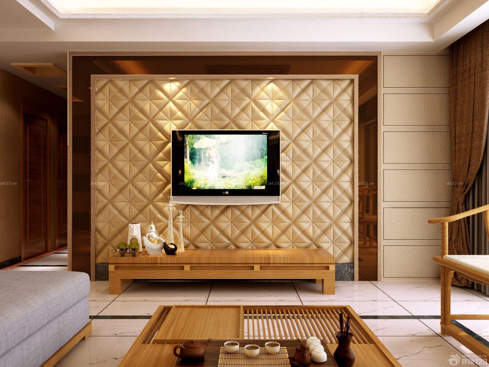 新中式风格电视背景墙设计图
