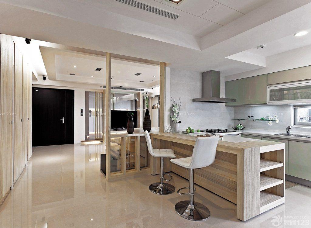 50多平米小户型房屋厨房餐厅一体装修图片