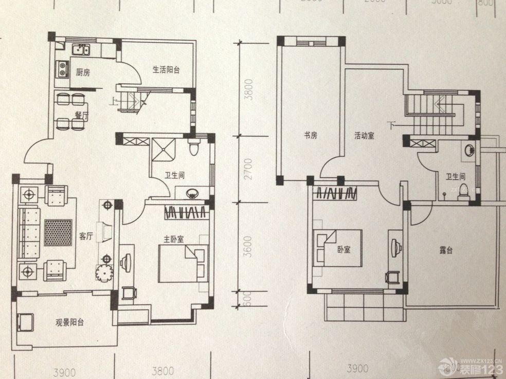 室内装修35平小户型平面图布局