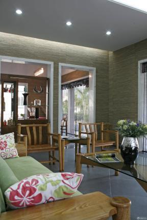 室内客厅装修图 压纹壁纸