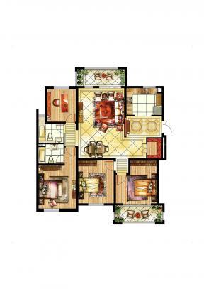 四層別墅戶型圖 農村房屋設計戶型圖