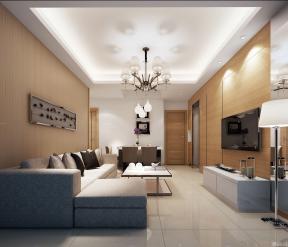一室一厅整体装修图 客厅简单