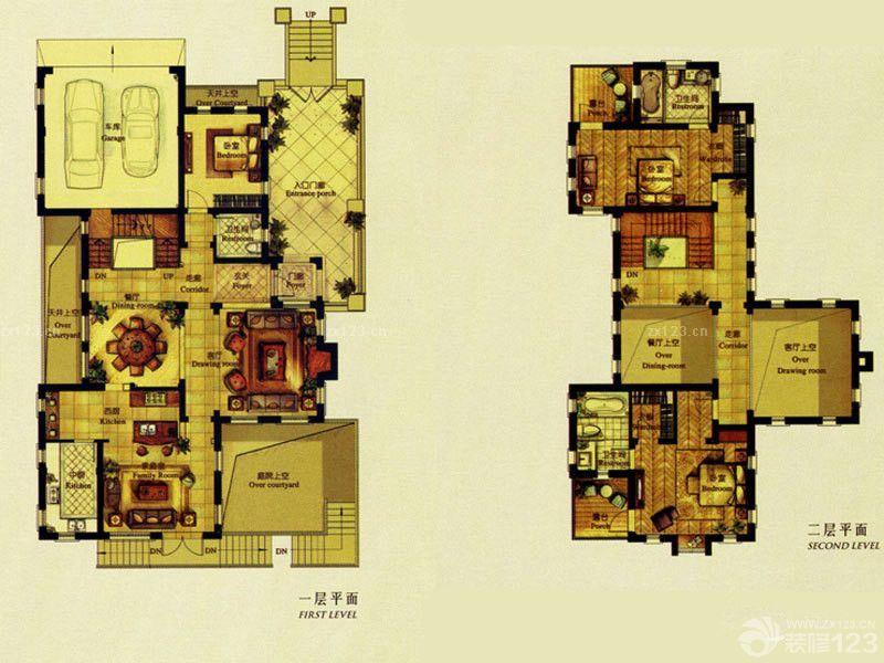 最新两层农村自建房户型图