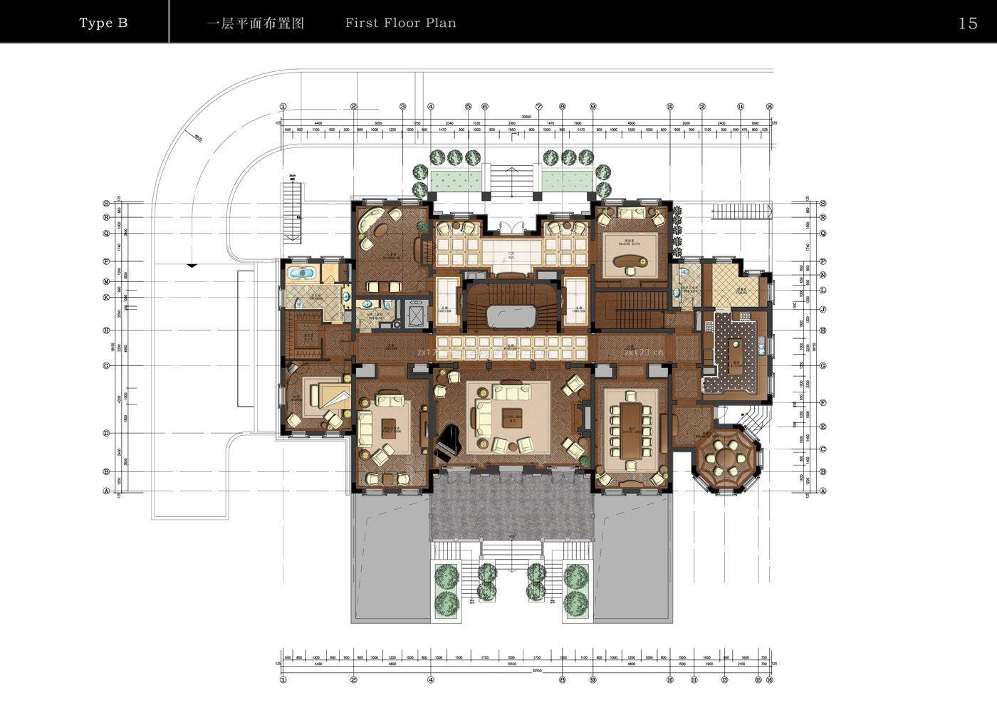 120平米农村简单小别墅户型图图片