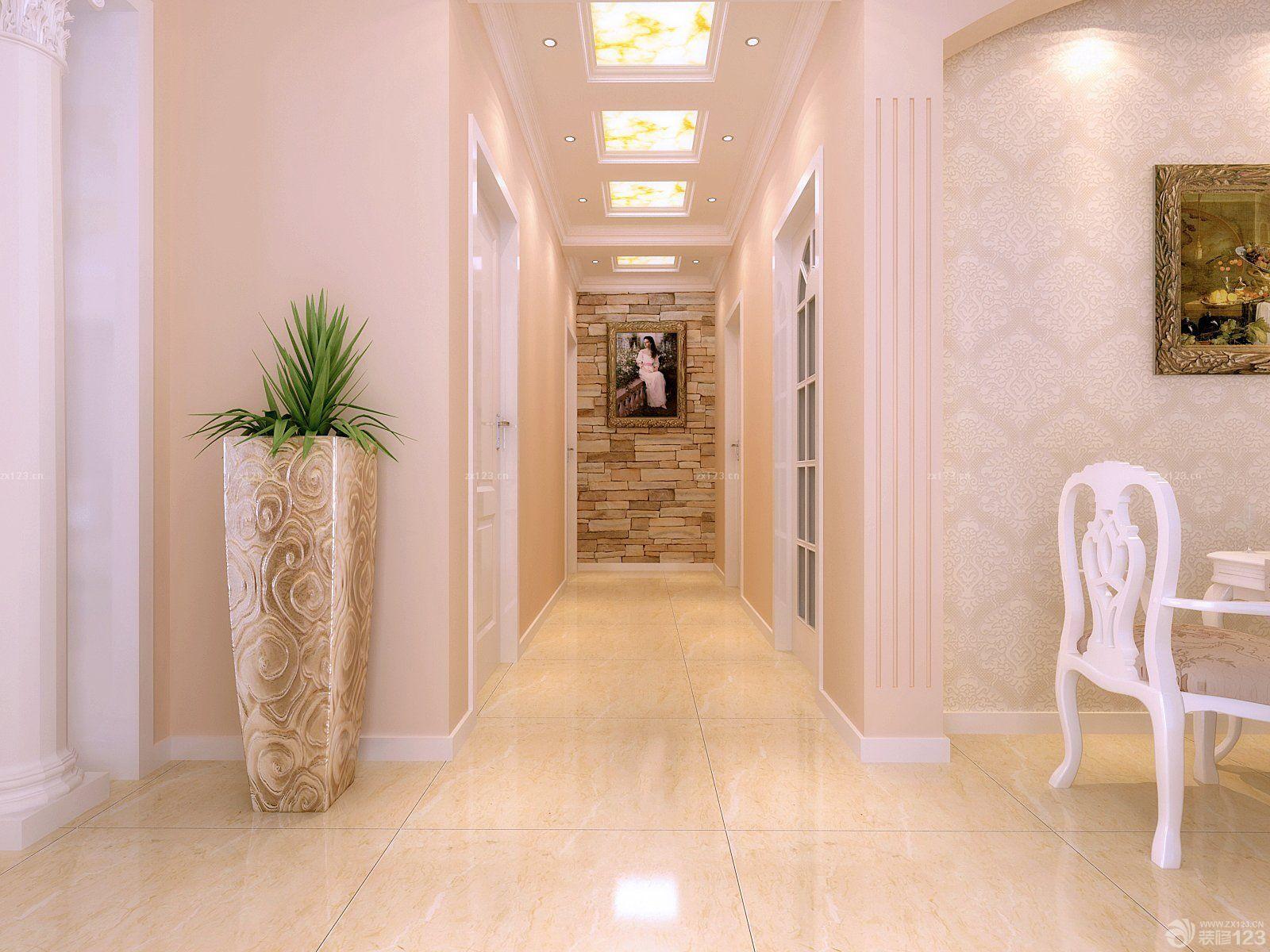 简欧风格新房子60平过道装修效果图图片