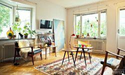 北歐田園風格50平方一室一廳效果圖