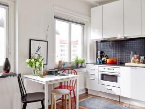 50平二手房裝修效果圖 廚房餐廳一體