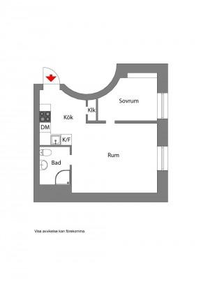 一室一廳裝修平面圖