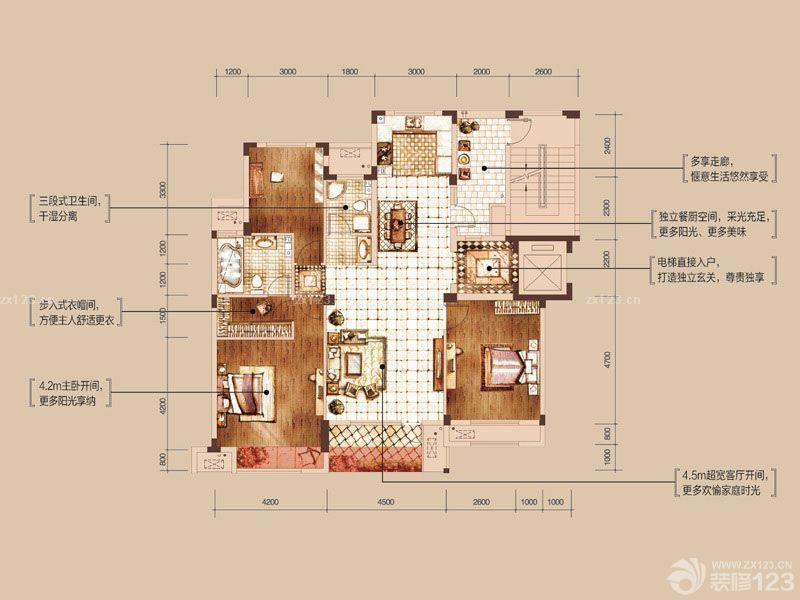 特色经典三室两厅最佳户型图