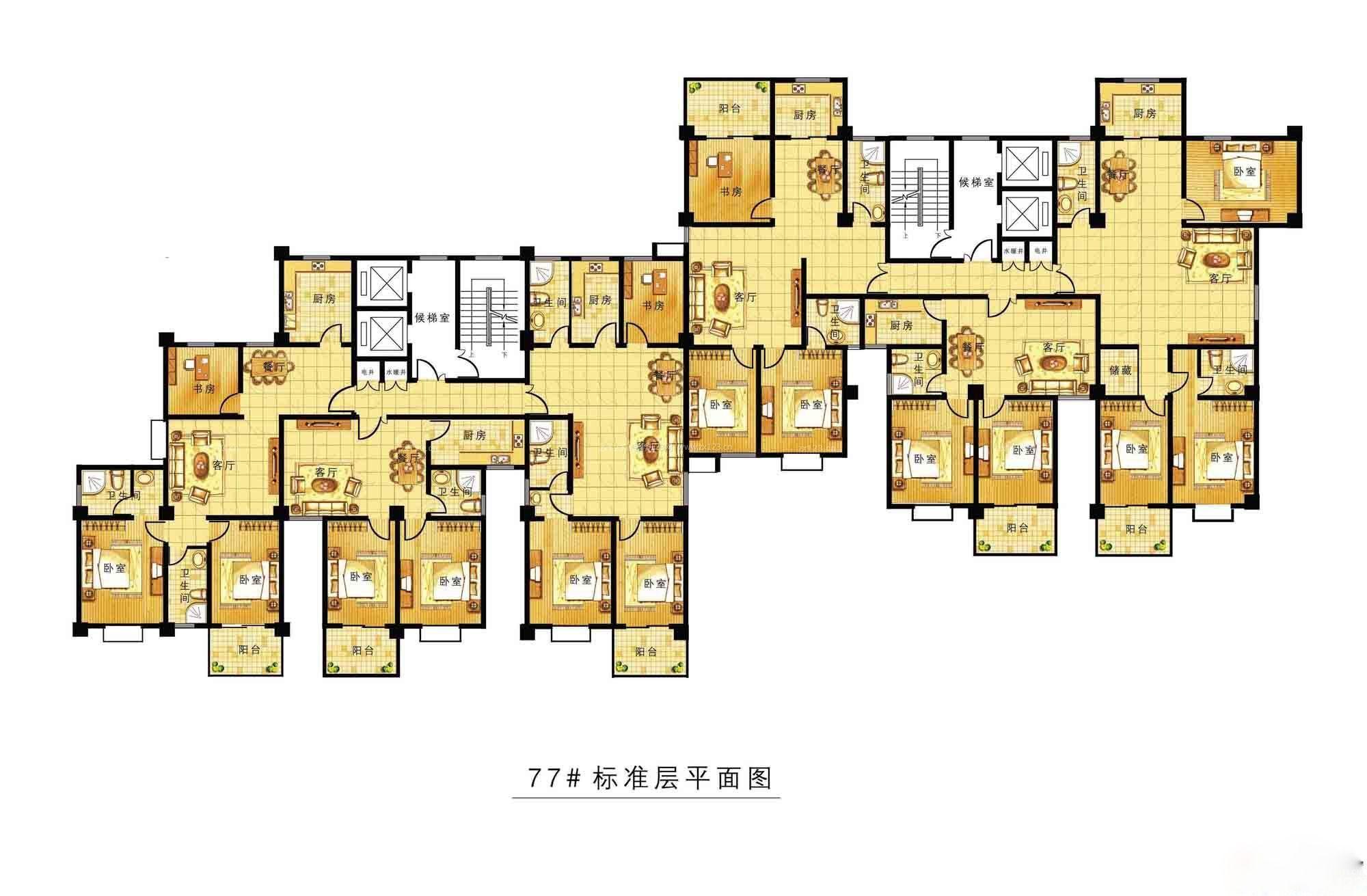 户型 户型图 平面图 2000_1311