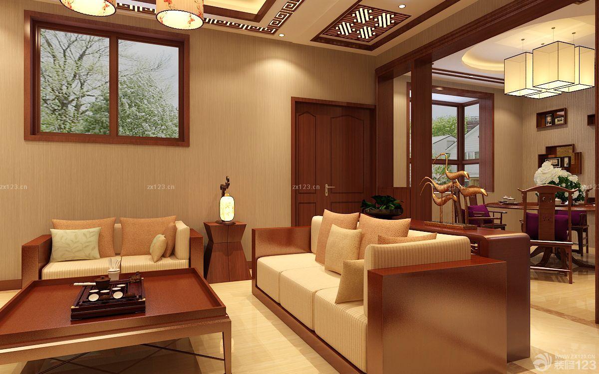 60平米小户型客厅影视墙设计装修图片