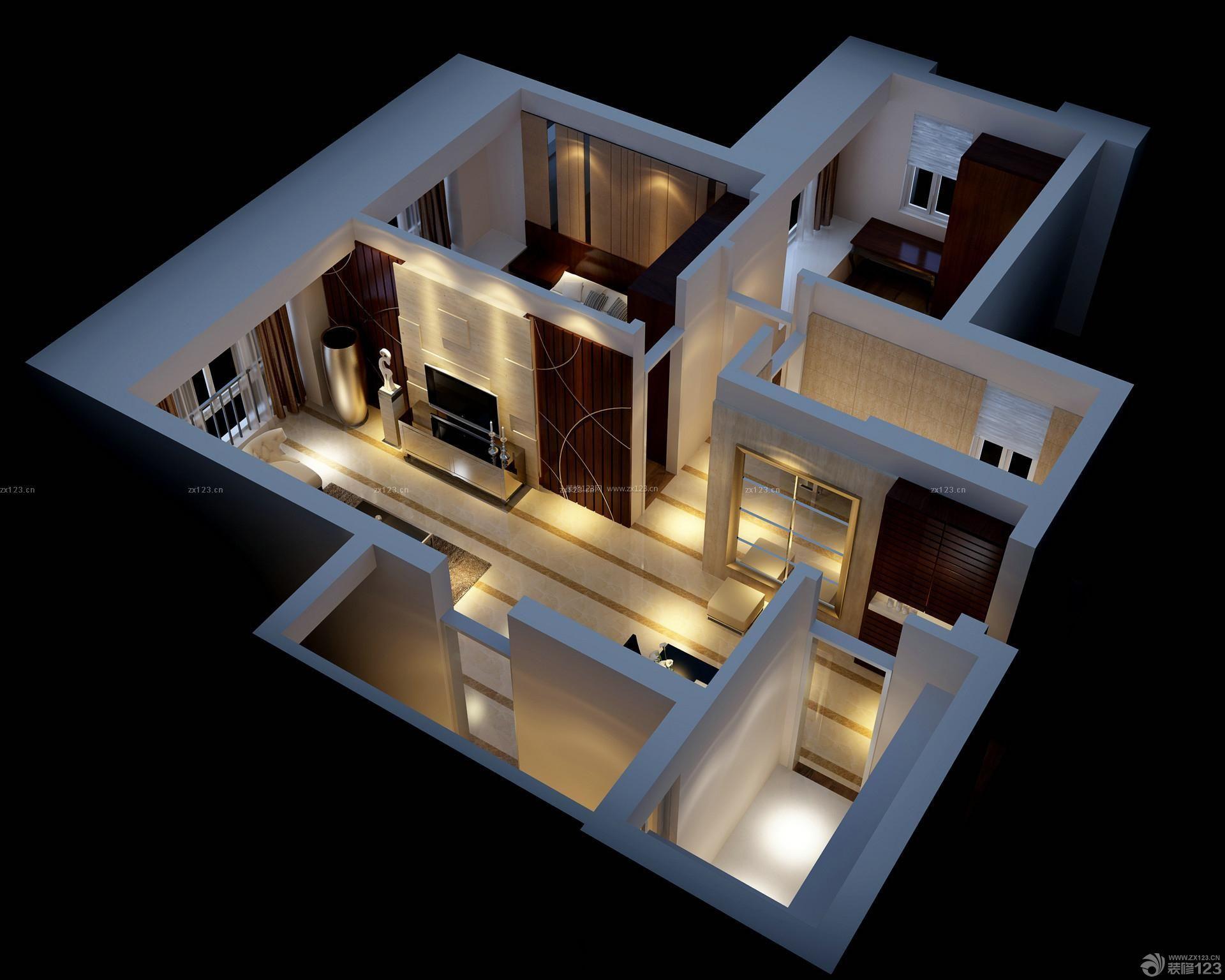 家装效果图 户型图 2014立体户型图大全 提供者