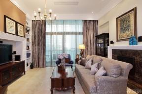 美式鄉村風格客廳 美式沙發裝修圖片