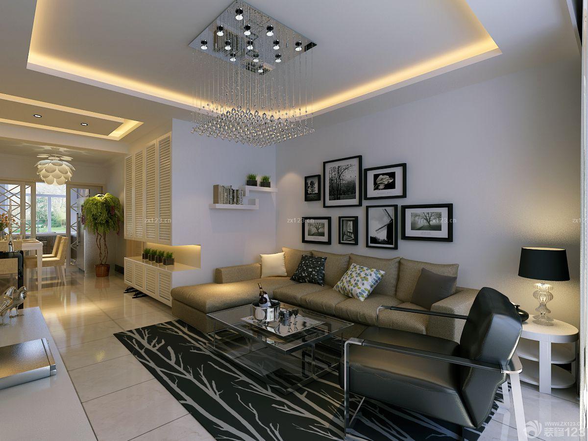 89平房子长方形客厅装修设计图