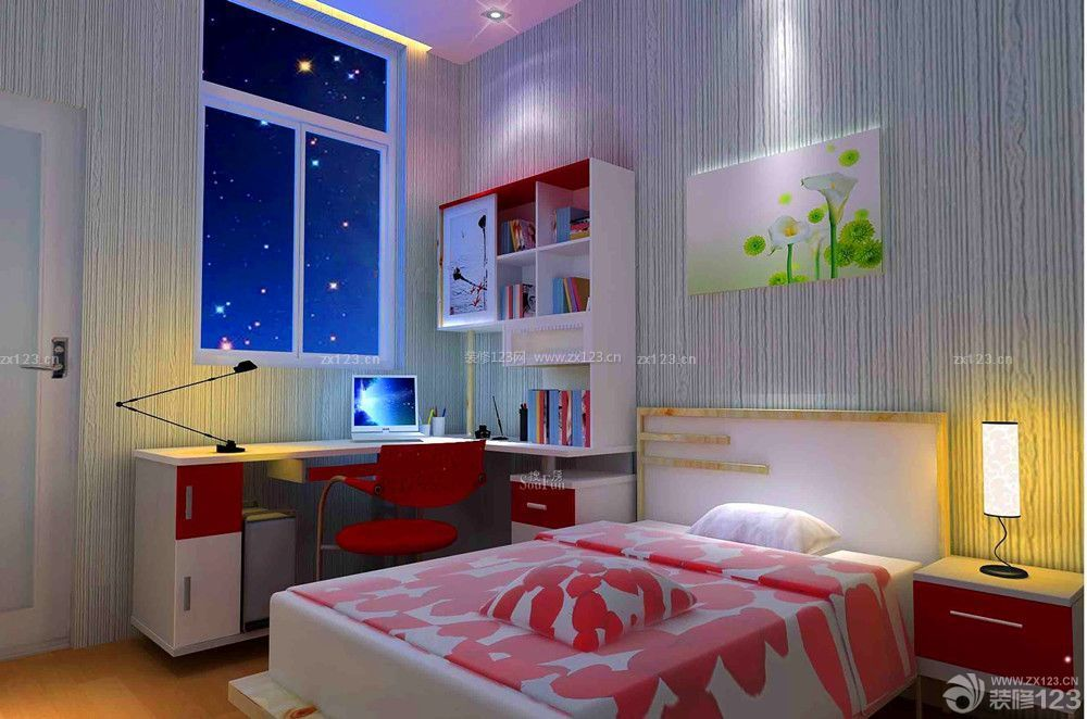 时尚一室一厅25平方单身公寓设计效果图_装修123效果图