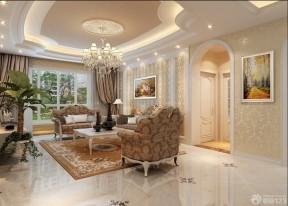 客廳天花板吊頂 歐式風格客廳效果圖