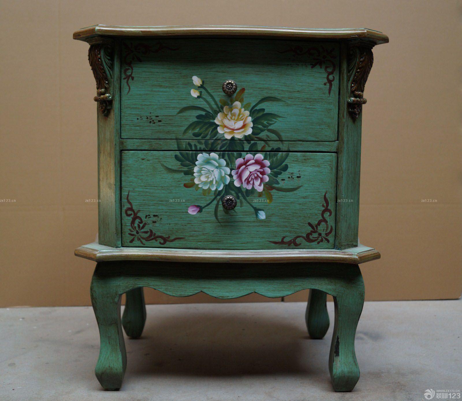 手绘美式家具图片