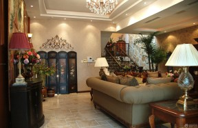 美式现代客厅 手绘美式家具