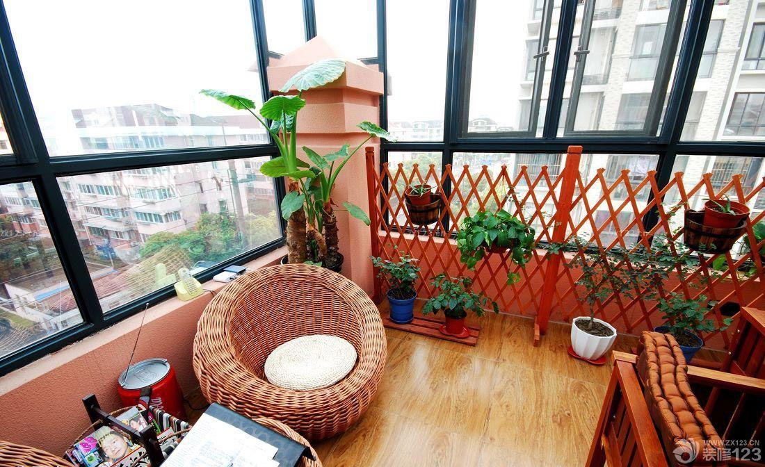 东南亚风格室内封闭阳台设计效果图图片