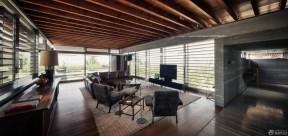 客廳天花板吊頂 木質吊頂