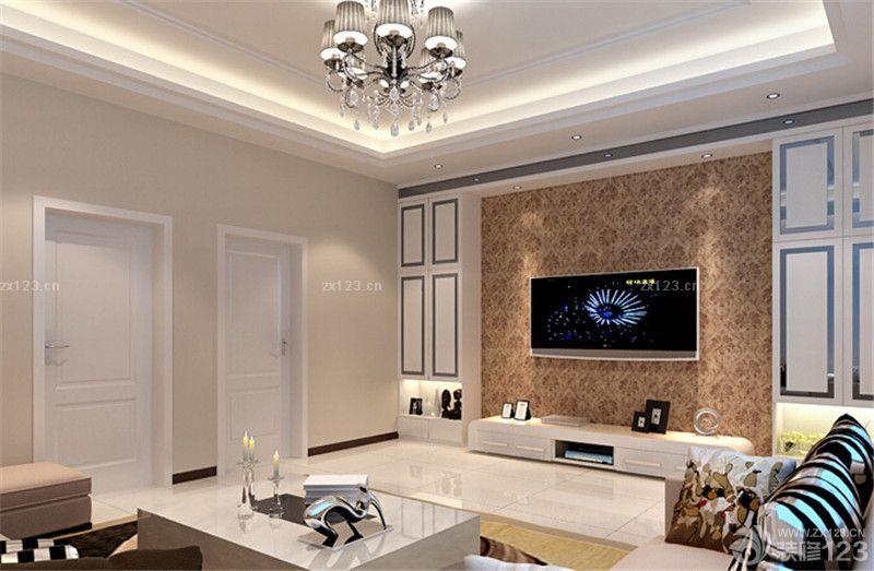 经典家装客厅吊顶灯带装修效果图欣赏