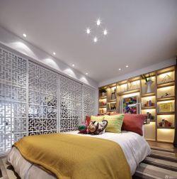 新中式風格家具兒童房間布置實景圖