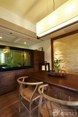個性餐廳新中式風格家具布置圖片