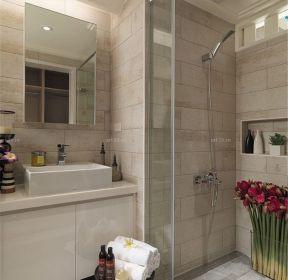 90平房屋家庭浴室装修效果图-每日推荐