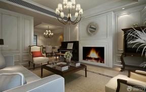 美式現代客廳 壁爐