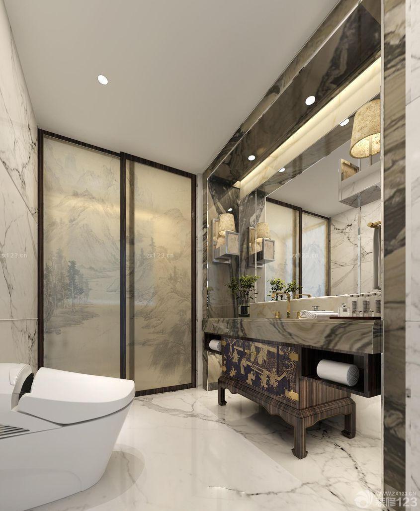 中式风格卫生间暗门装修图片图片