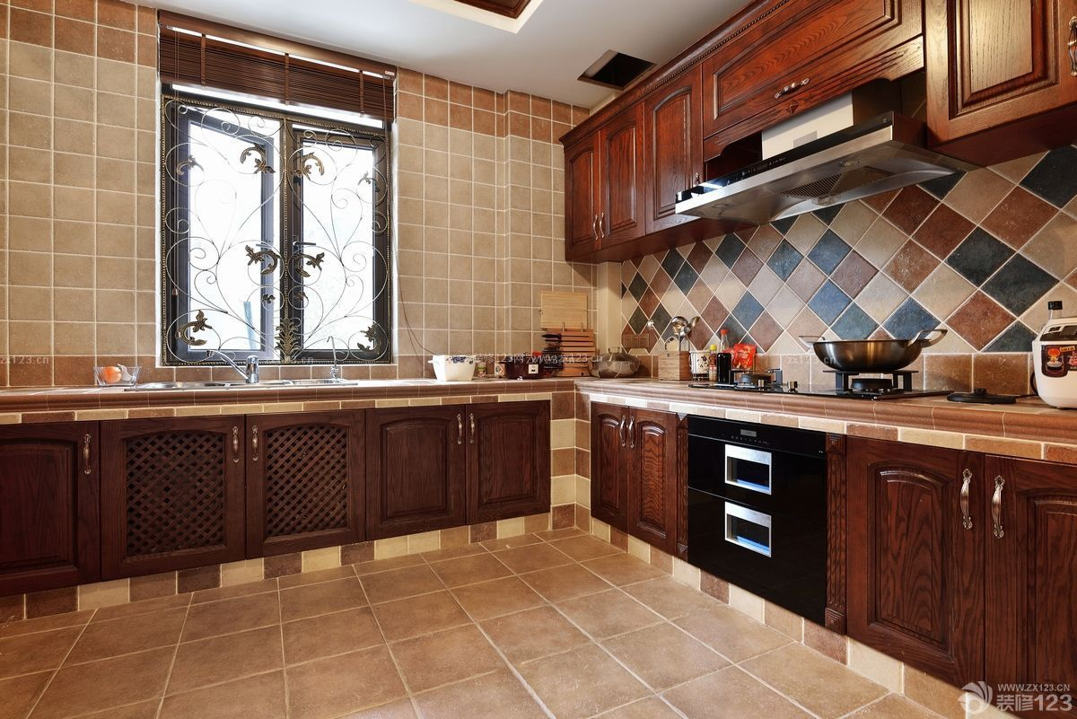 家居厨房美式橱柜装修图片大全
