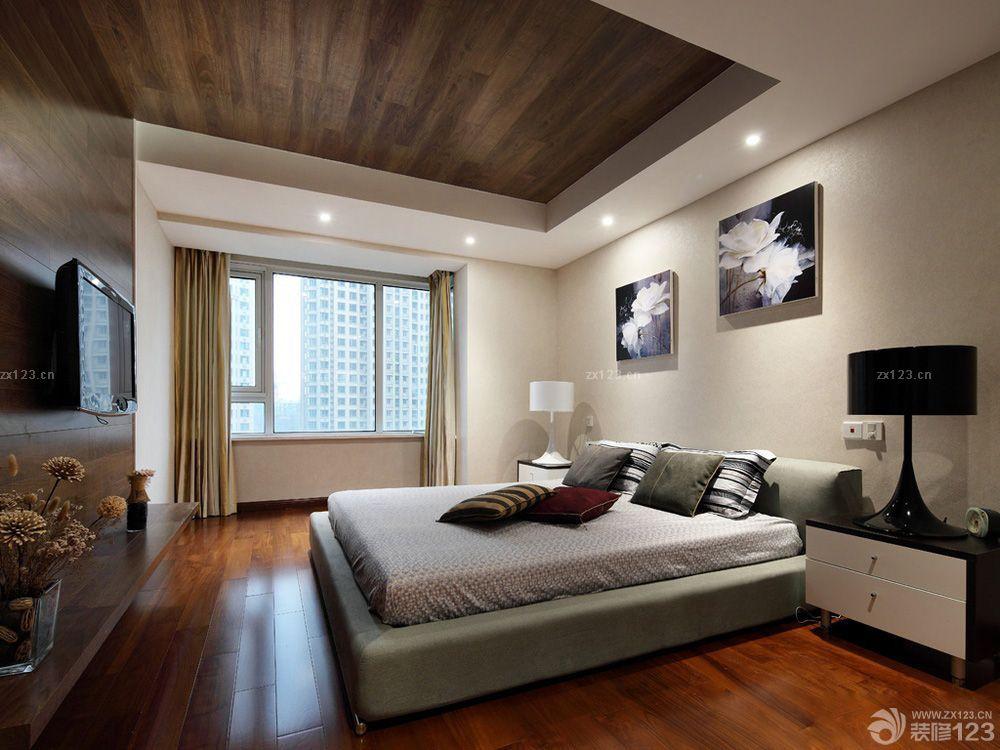 新中式风格生态木吊顶效果图