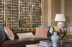 新房客廳美式燈具裝修圖片欣賞