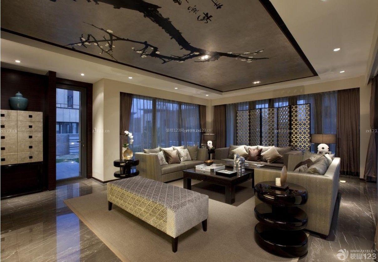 长方形客厅屏风背景设计图