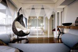 精品大臥室秋千椅裝飾圖片