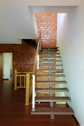 實木樓梯 不銹鋼樓梯扶手