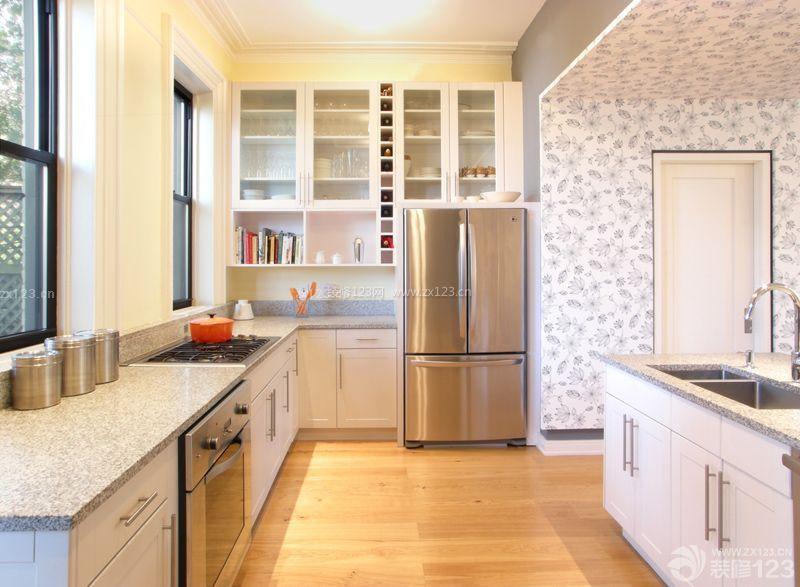 经典美式家居装修风格白色橱柜设计图