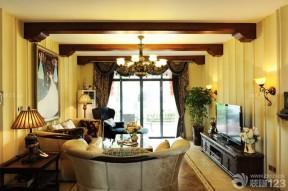 客廳吊頂造型 生態木吊頂